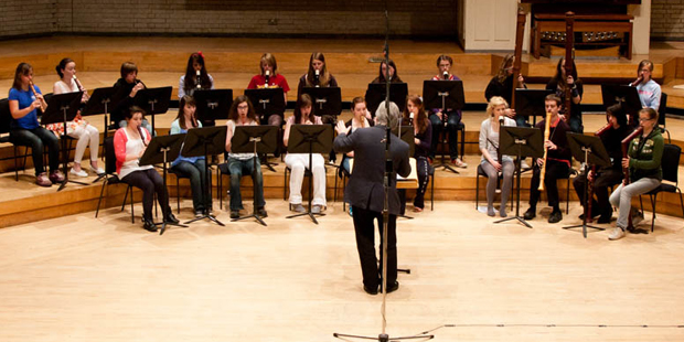 Rehearsal at the 2010 Summer course in Rossall School before the outstanding concert in the Royal Northern College of Music in Manchester.
